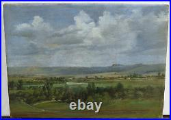 Important antique oil on canvass painting Delaware River Vally George Inness