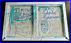 JEAN MICHEL BASQUIAT - A 1980s ORIGINAL ACRYLIC PAINTING ON CANVAS, SIGNED