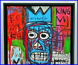 JEAN MICHEL BASQUIAT - A 1980s, ORIGINAL, NEO EXPRESSIONIST, ACRYLIC PAINTING
