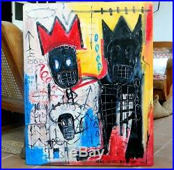 JEAN MICHEL BASQUIAT oil canvas era HARING POLLOCK de kooning KLINE Andy Warhol