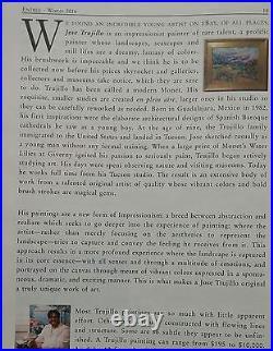 JOSE TRUJILLO Impressionism Fuchsia Tree Park Landscape OIL PAINTING Collectible