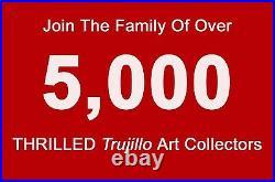 JOSE TRUJILLO SIGNED CANVAS MODERN HILLSIDE Oil Painting FRAMED IMPRESSIONIST