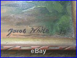Jacob White Oil Painting Antique Small Gem American Ny Impressionist Landscape