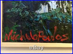 James Michalopoulos Original Oil Painting Remainder Of The Moment On Canvas