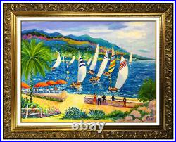 Jean Claude Picot Original Painting Oil On Canvas Modern French Landscape Signed