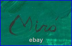 Joan Miro Hand Painted And Signed Signature Abstract On Canvas