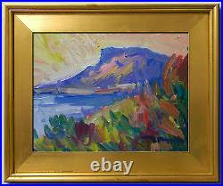 Jose Trujillo Framed Impressionism Plein Air Oil Painting Mountain Sky Lot 0033
