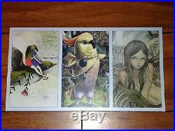 Kathie Olivas Original 1 Of A Kind Canvas Painting Plus Audrey Kawasaki Card