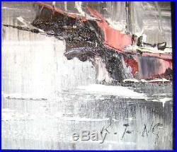 Kee Fung Ng Oil Painting on canvas, San Francisco Artist from China, boats/water