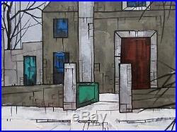 Listed Artist Hugo Casar (1911-1975) Montmartre, Paris Modernist Oil Painting