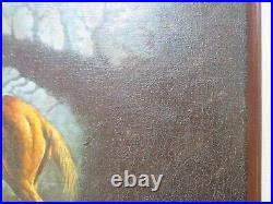 Listed Western Artist John Stanford Original Western Oil on Canvas (Framed)