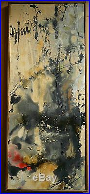 MERRY ELLEN FOSTER M. E. FOSTER, LISTED rare KANSAS ABSTRACTION EXPRESSIONISM OIL
