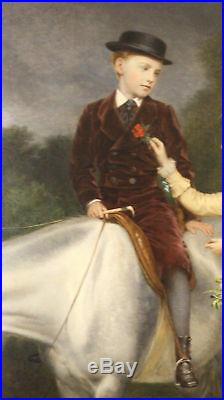 Magnificent 1877 Oil On Canvas Painting By R. Ansdell & S. Sidley Listed Artist