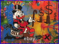 Mimo x JPO Scrooge Mcduck Oil Mogul Original Painting Not Alec Monopoly