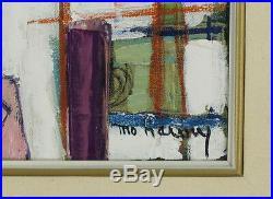 Monique Harvey (1950-2001) Canadian Quebec Listed Original Oil/Canvas Surrealism
