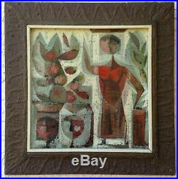 OIL Painting MEXICAN MODERN Figurative MID-CENTURY Ramon PRATS 1955
