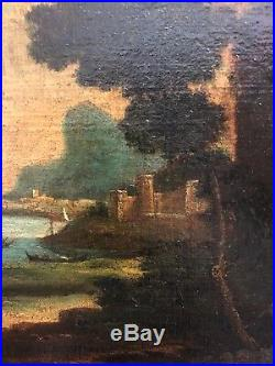 Oil On Canvas Italian 16th Century. Thick weave canvas