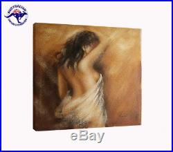Oil Painting x 2 Pieces Erotic Nude Art 2 Naked Women from Behind