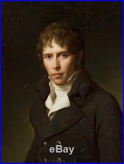 Old Master Art Antique Man Portrait French Gentleman Oil Painting Unframed 2430