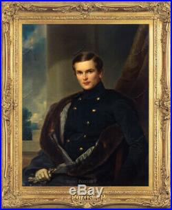 Old Master Art Antique Man Portrait Gentleman Oil Painting Unframed 24x30in