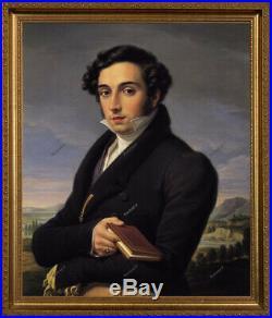 Old Master Art Antique Man Portrait Italian Gentleman Oil Painting Unframed 24