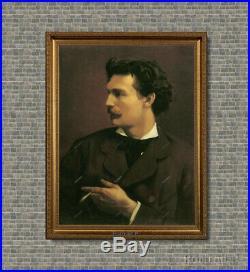 Old Master Art Man Portrait French Gentleman Cigar Oil Painting Unframed 24x30