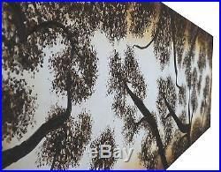 Original Australia Art oil Painting landscape tree forest dreaming aboriginal