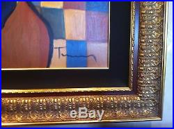 Original Itzchak Tarkay painting canvas authentic oil painting 40x40 handpainted