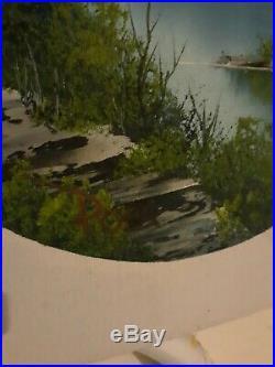 Original Signed Bob Ross Oil Painting, COA, Rare