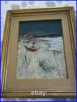 Original Signed Sol Wilson Oil On Canvas Painting The Beach Provincetown Mass