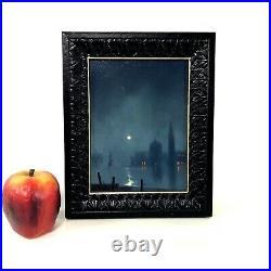 Original William R Davis Oil Painting Luminist Moon Light Painting