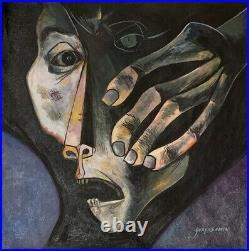 Oswaldo Guayasamin Oil On Canvas Signed And Framed
