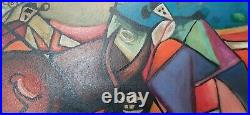 Pablo picasso oil on canvas painting signed Not frame