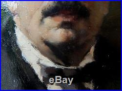 Peter Kalman Famous Self-Portrait (Budapest) 1922 oil on canvas (hungarian)