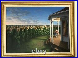 ROB GONSALVES THE LISTENING FIELDS ORIGINAL PAINTING ON CANVAS 22 x 30