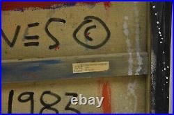 Rare Jean Michel Basquiat Original Vintage Painting King = SAMO