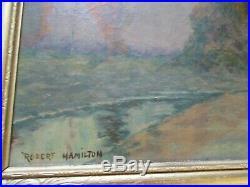 Robert Hamilton Painting American Landscape Antique Plein Air Impressionism