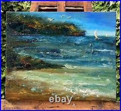 Scottish Seascape signed original oil painting on canvas 50x40cm
