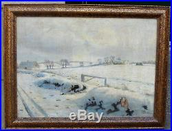 Sorensen. Large Scandinavian winter village. 1910