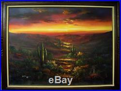 Southwest Desert Landscape at Sunset by B. Duggan