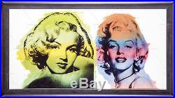 Steve Kaufman Marilyn Monroe Double Original Oil Painting Canvas Documented