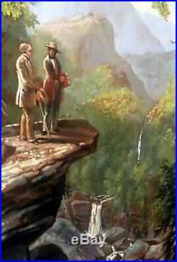 Summer Landscape Scenery mountain hills Hand Painted Oil Painting on Canvas