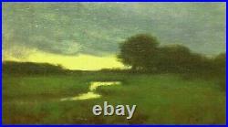 Sunset Marsh Wetlands Realism Landscape OIL PAINTING ART IMPRESSIONIST Original