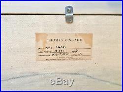THOMAS KINKADE ORIGINAL oil Cav/bd WET SEASON (Not a print) JUST APPRAISED 35K