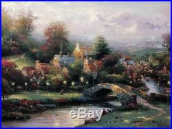 Thomas Kinkade #110/1240 Lamplight Village 18x24 G/P Limited Canvas