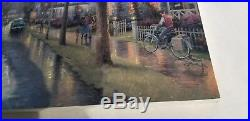 Thomas Kinkade Oil On Canvas 16x20 Foothill Hometown Morning