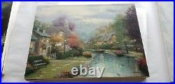 Thomas Kinkade Oil On Canvas 18x24 Lamplight Brook 1 I