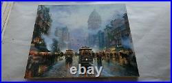 Thomas Kinkade Oil On Canvas 20x24 San Francisco Market Street