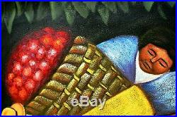 Toni Z-The Flower Carrier (After Diego Rivera)-Original Oil/Canvas/Hand Signed