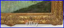 Unknown 19th C. Impressionist Painting, Newcomb Macklin Frame, Oil On Canvas